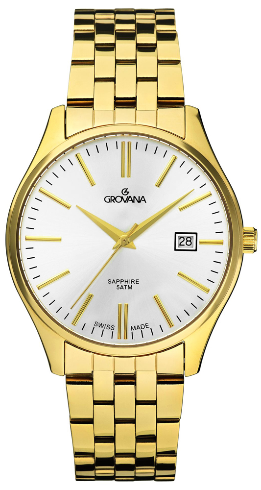 Zegarek męski Grovana bransoleta 1568.1112 - duże 1