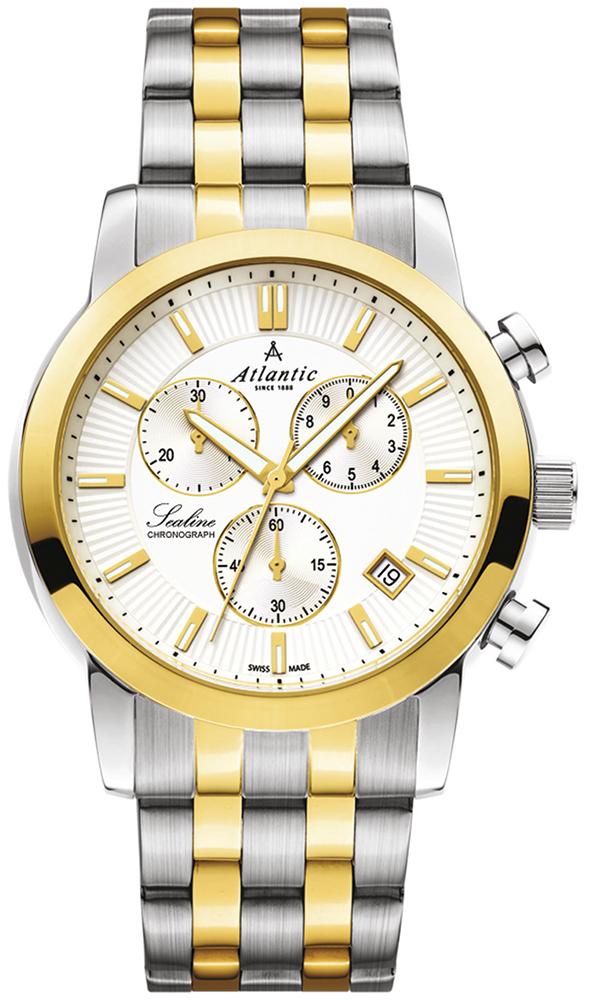 Zegarek męski Atlantic sealine 62455.43.21G - duże 1
