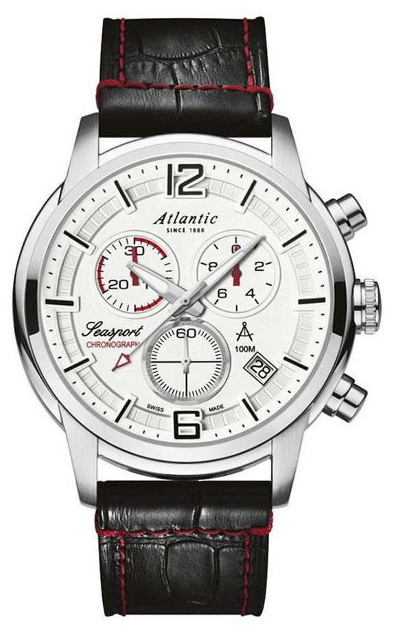 Zegarek męski Atlantic seasport 87461.41.25 - duże 1
