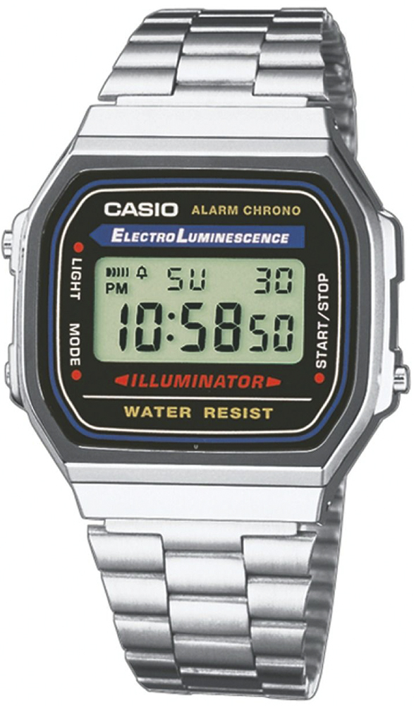 Zegarek męski Casio retro maxi A168WA-1YES - duże 1