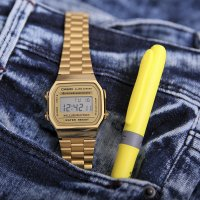 Zegarek męski Casio casio retro maxi A168WG-9EF - duże 4