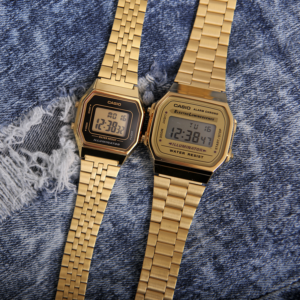 Zegarek męski Casio casio retro maxi A168WG-9EF - duże 2