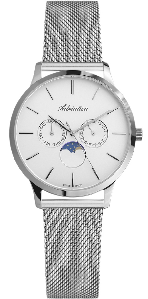 Zegarek damski Adriatica bransoleta A3174.5113QF - duże 1