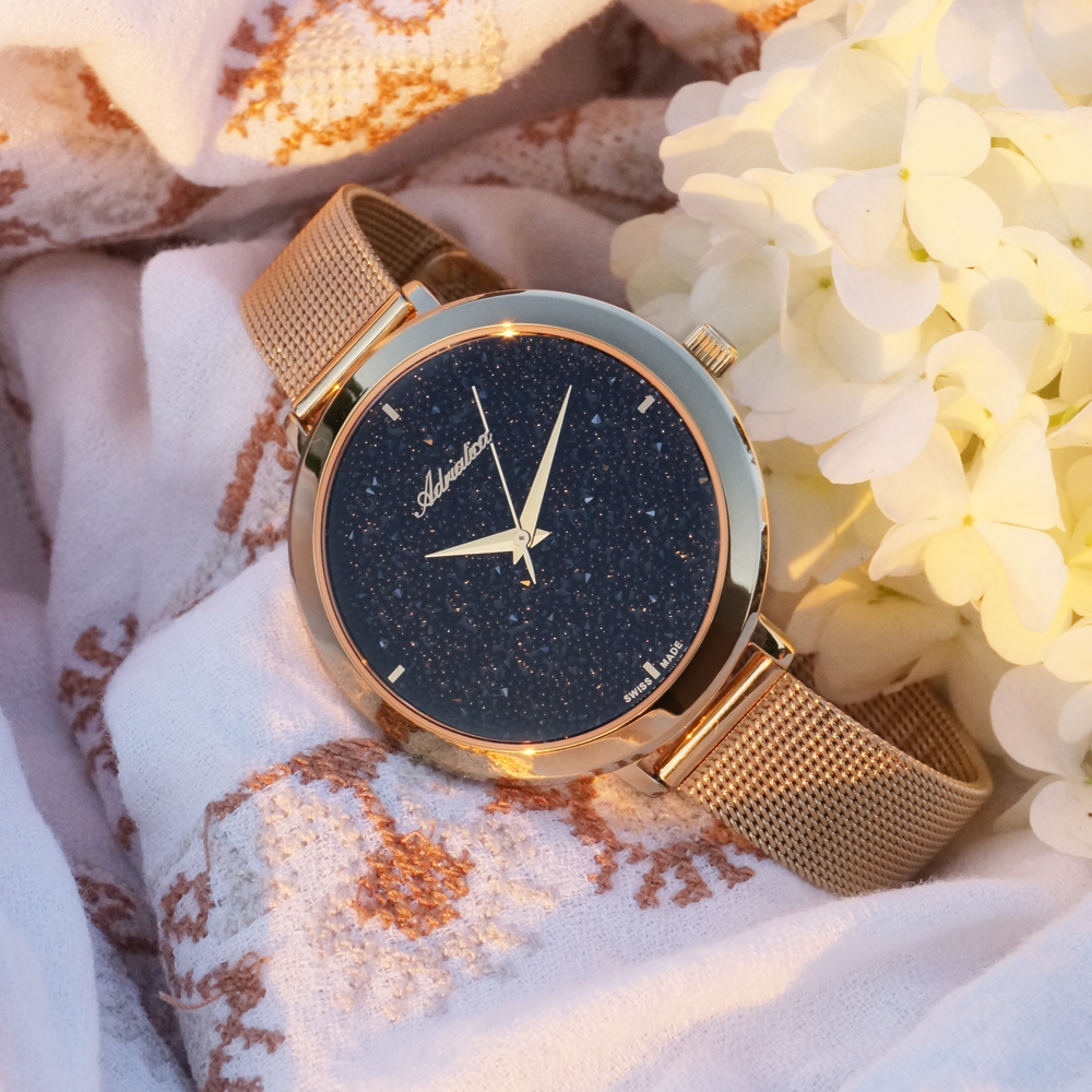 Zegarek damski Adriatica bransoleta A3787.9114Q - duże 1