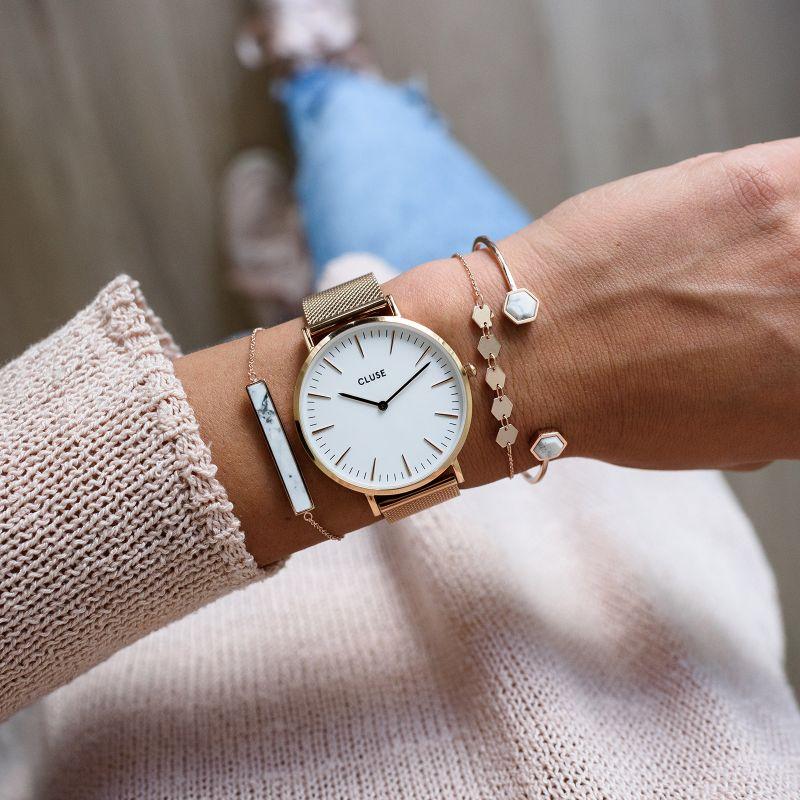Zegarek damski Cluse boho chic CW0101201001 - duże 8