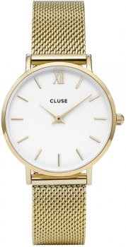 Cluse CW0101203007Mesh Gold/White
