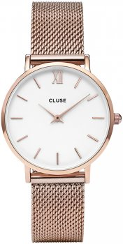 Cluse CW0101203001Mesh Rose Gold/White