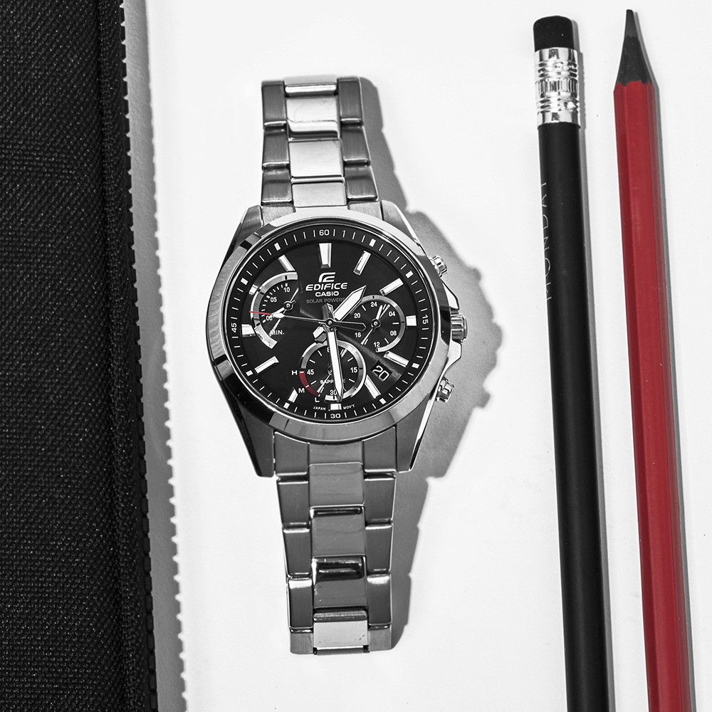 Zegarek męski Casio edifice premium EFS-S530D-1AVUEF - duże 2