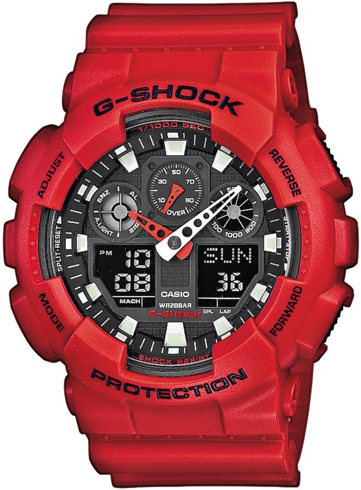 Zegarek męski Casio g-shock original GA-100B-4AER - duże 1