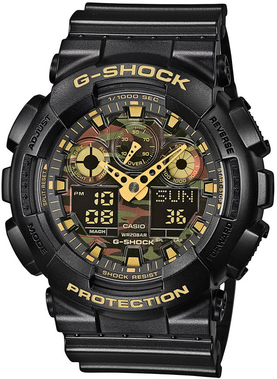 Zegarek męski Casio g-shock original GA-100CF-1A9ER - duże 1