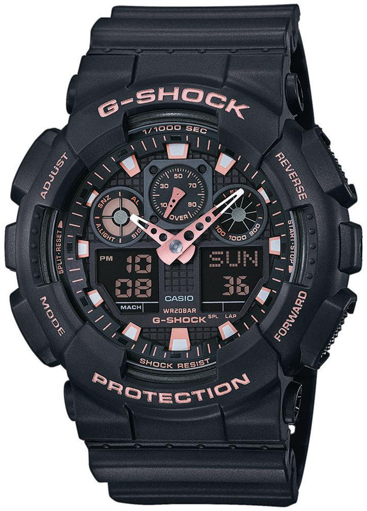 Zegarek męski Casio g-shock original GA-100GBX-1A4ER - duże 1