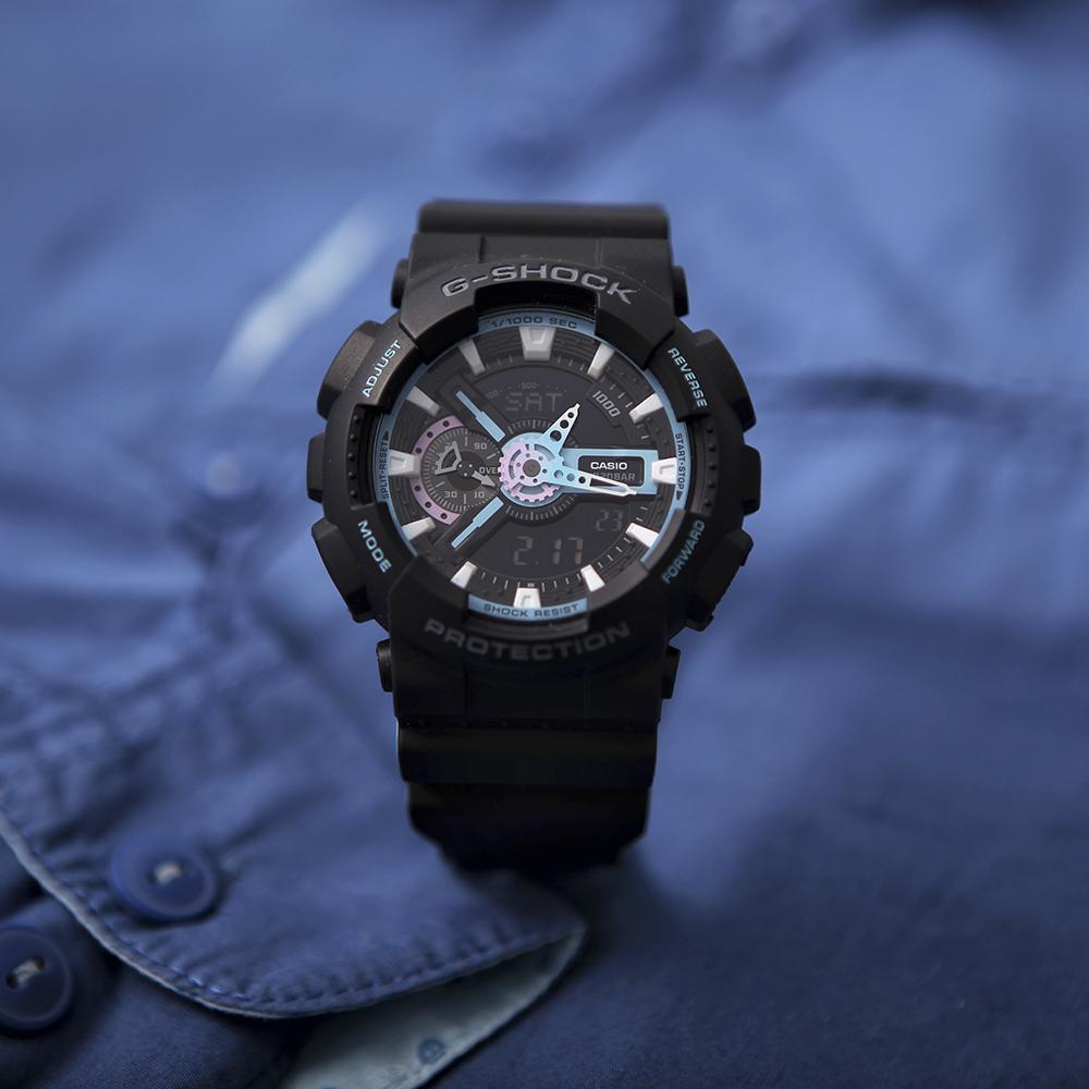 Zegarek męski Casio g-shock style GA-110PC-1AER - duże 2