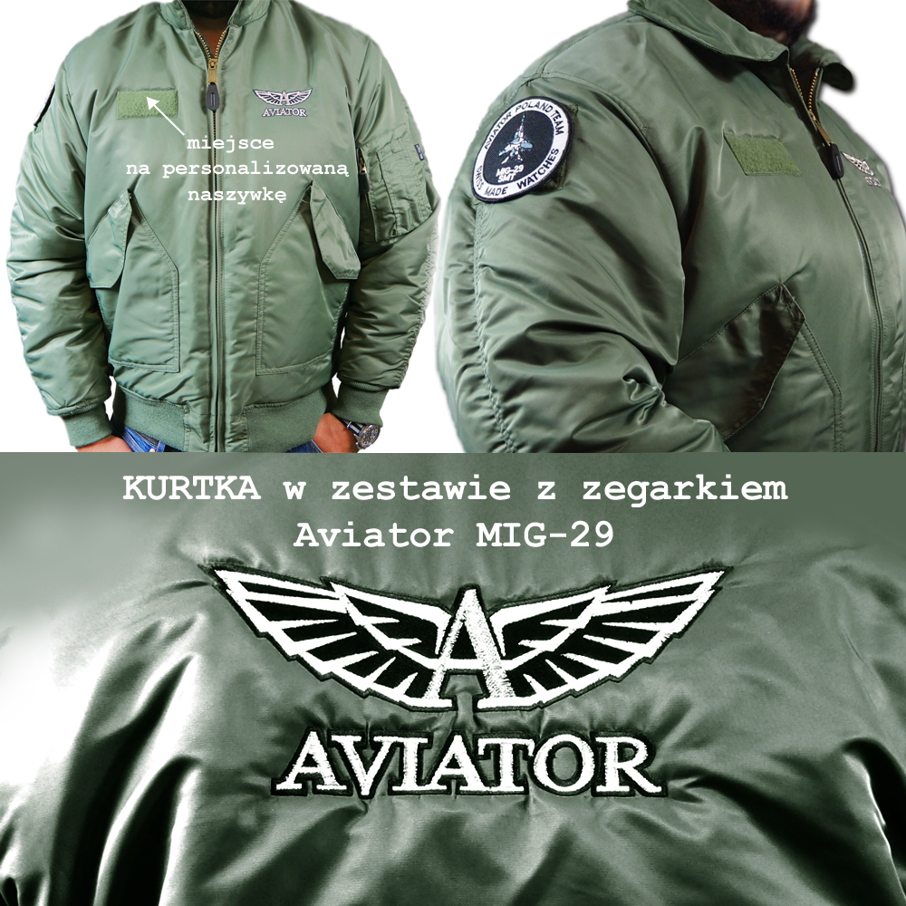 Zegarek męski Aviator mig collection M.2.30.0.220.6 - duże 1