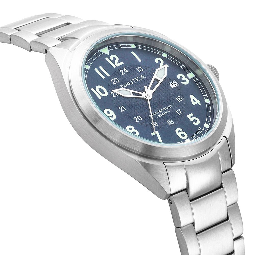 Zegarek męski Nautica bransoleta NAPBTP004 - duże 2