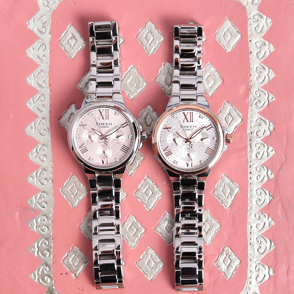 Zegarek damski Casio sheen SHE-3511D-4AUER - duże 2