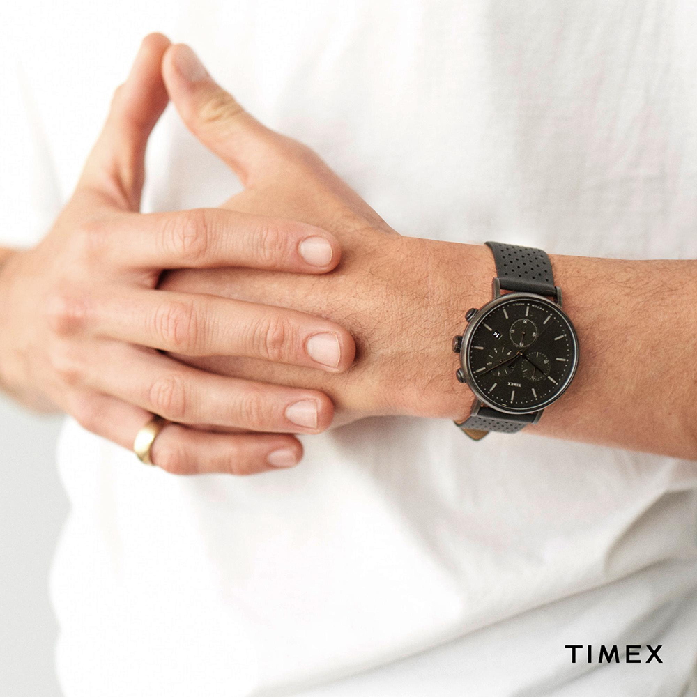 Zegarek męski Timex fairfield TW2R79800 - duże 2