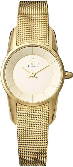 Zegarek damski Obaku Denmark slim V130LGGMG - duże 1