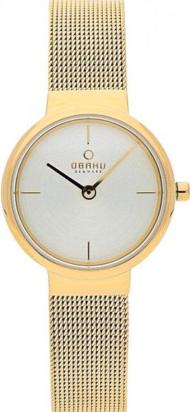 Zegarek damski Obaku Denmark slim V153LGGMG - duże 1