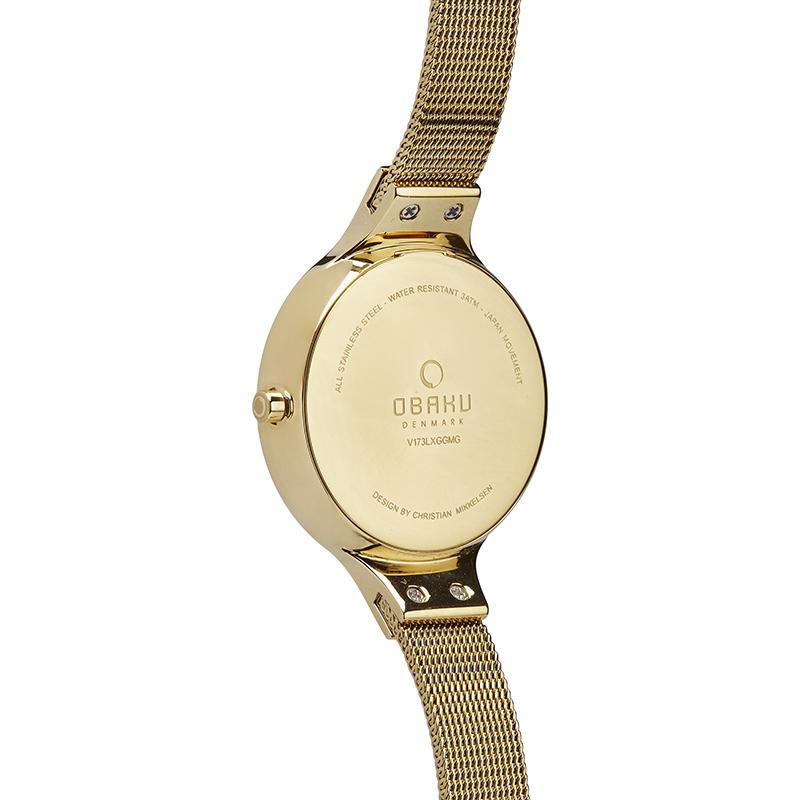 Zegarek damski Obaku Denmark slim V173LXGGMG - duże 2