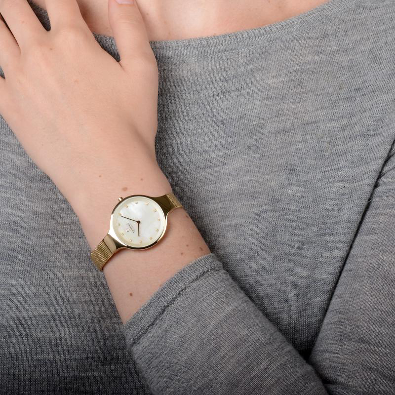 Zegarek damski Obaku Denmark slim V173LXGGMG - duże 3