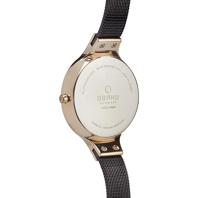 Zegarek damski Obaku Denmark slim V173LXVNMN - duże 2