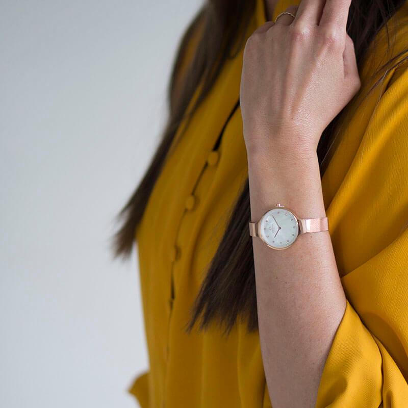 Zegarek damski Obaku Denmark slim V173LXVWMV - duże 2