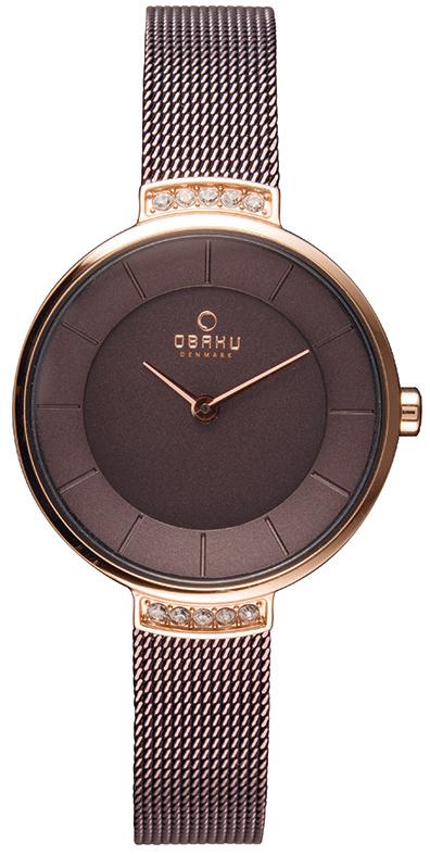 Zegarek damski Obaku Denmark slim V177LEVNMN - duże 1