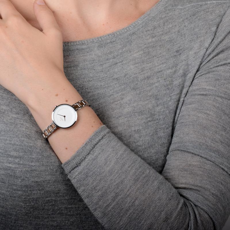 Zegarek damski Obaku Denmark slim V183LXCISC - duże 3