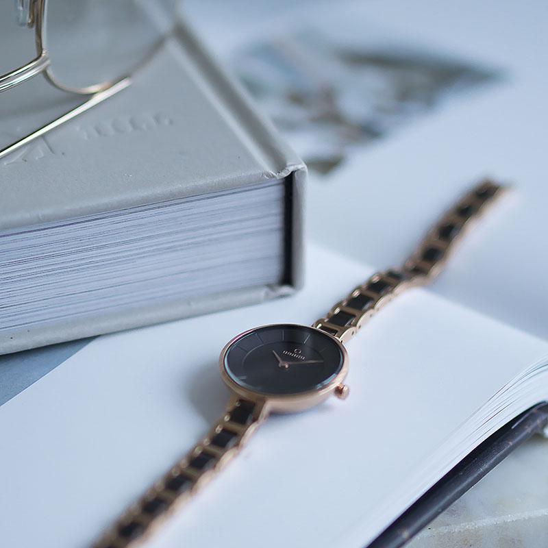 Zegarek damski Obaku Denmark slim V183LXVNSV - duże 2