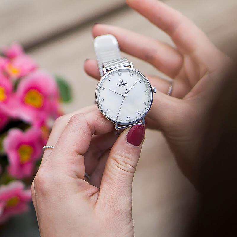 Zegarek damski Obaku Denmark slim V186LXCWMC - duże 4