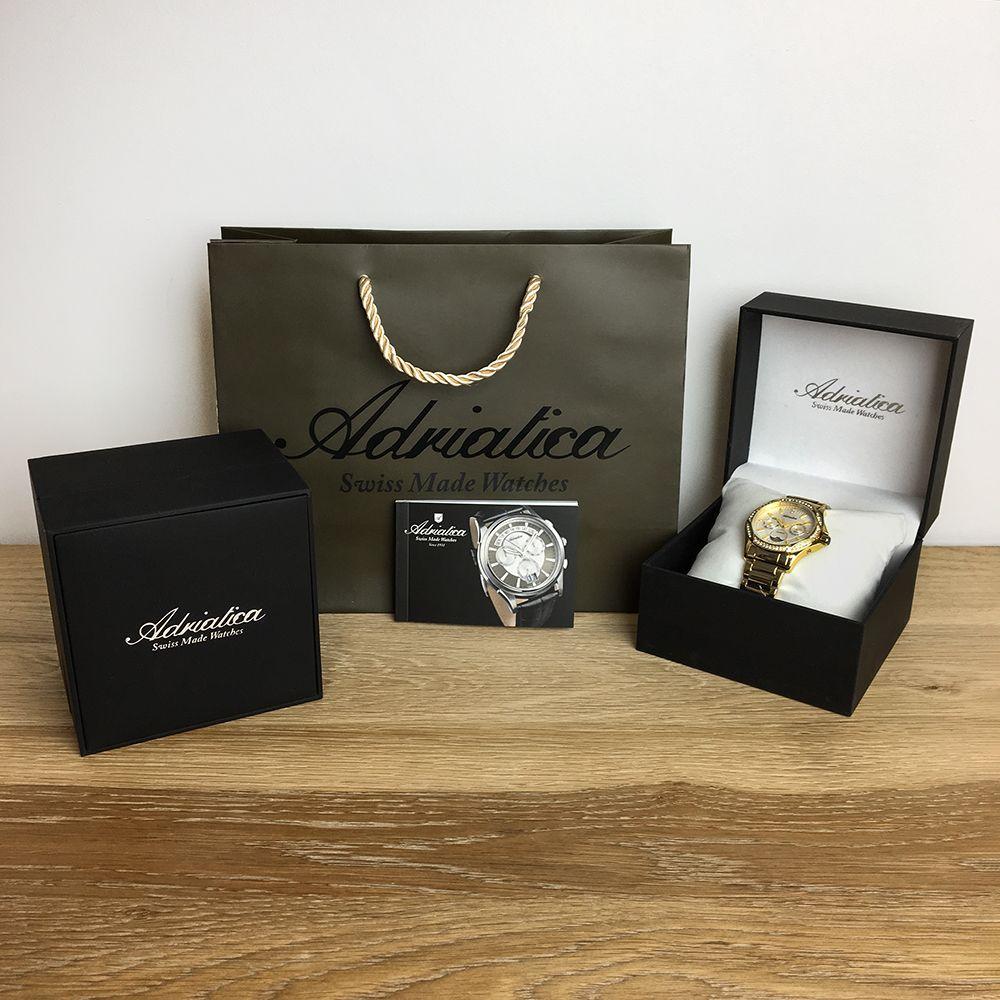 Zegarek męski Adriatica bransoleta A1274.1111QF - duże 1