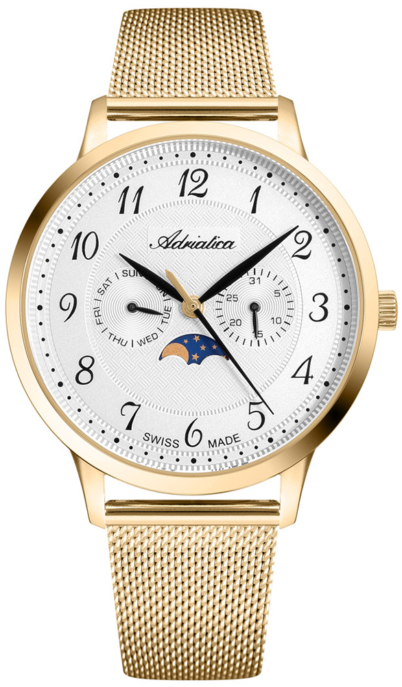 Zegarek męski Adriatica bransoleta A1274.1123QF - duże 1