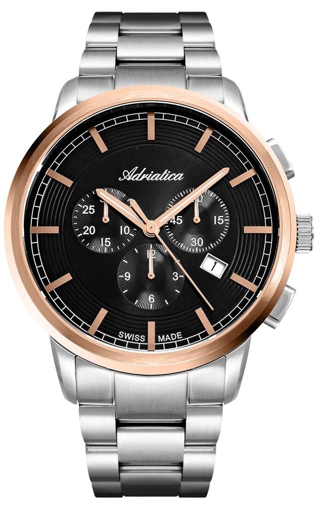 Zegarek męski Adriatica bransoleta A8307.R1R6CH - duże 1