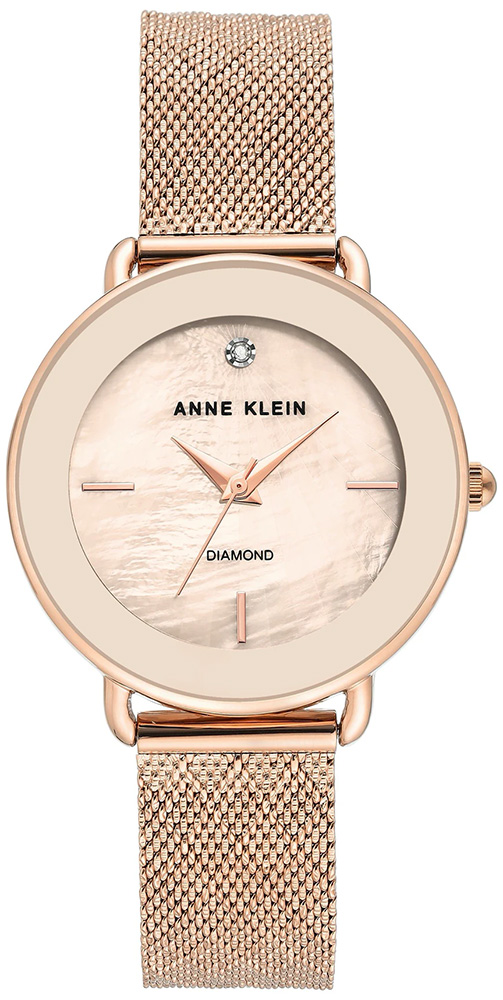 Zegarek damski Anne Klein bransoleta AK-3686PMRG - duże 1