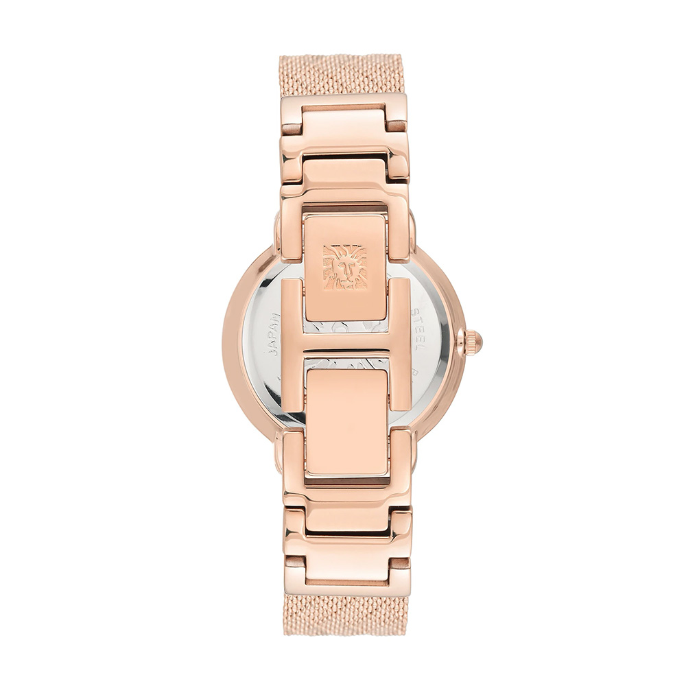 Zegarek damski Anne Klein bransoleta AK-3686PMRG - duże 2
