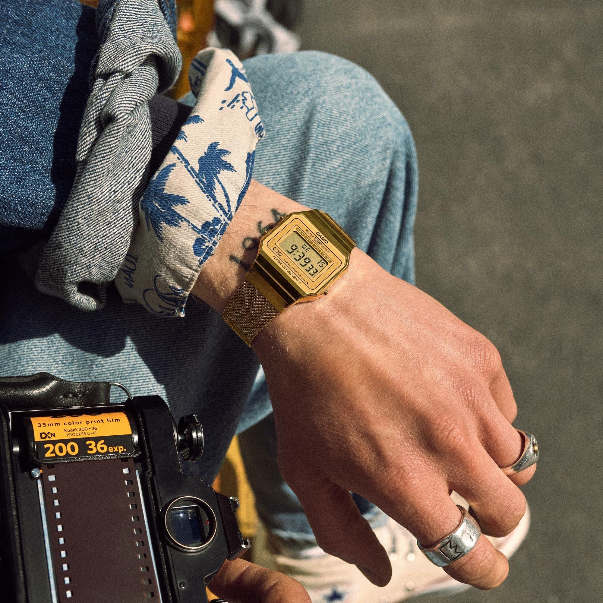 Zegarek damski Casio vintage A700WEMG-9AEF - duże 3