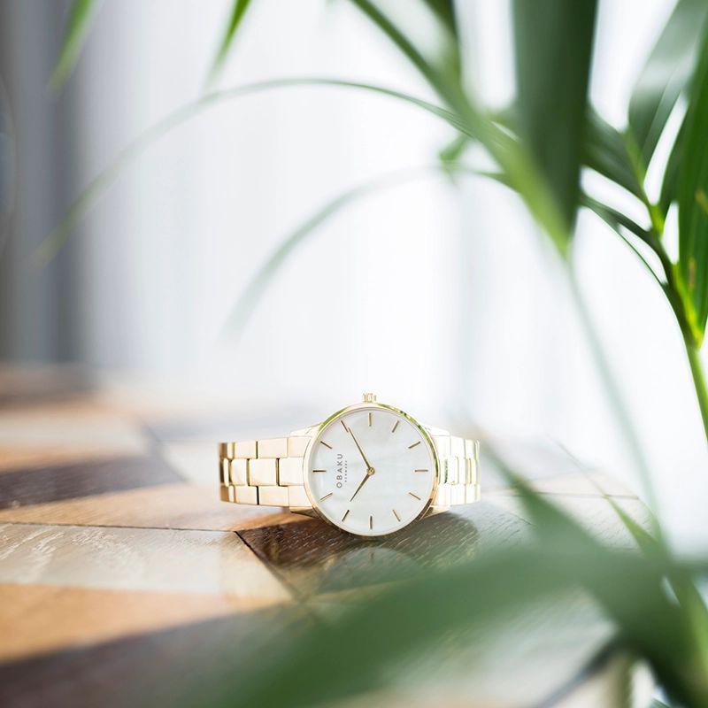 Zegarek damski Obaku Denmark slim V247LXGWSG - duże 6