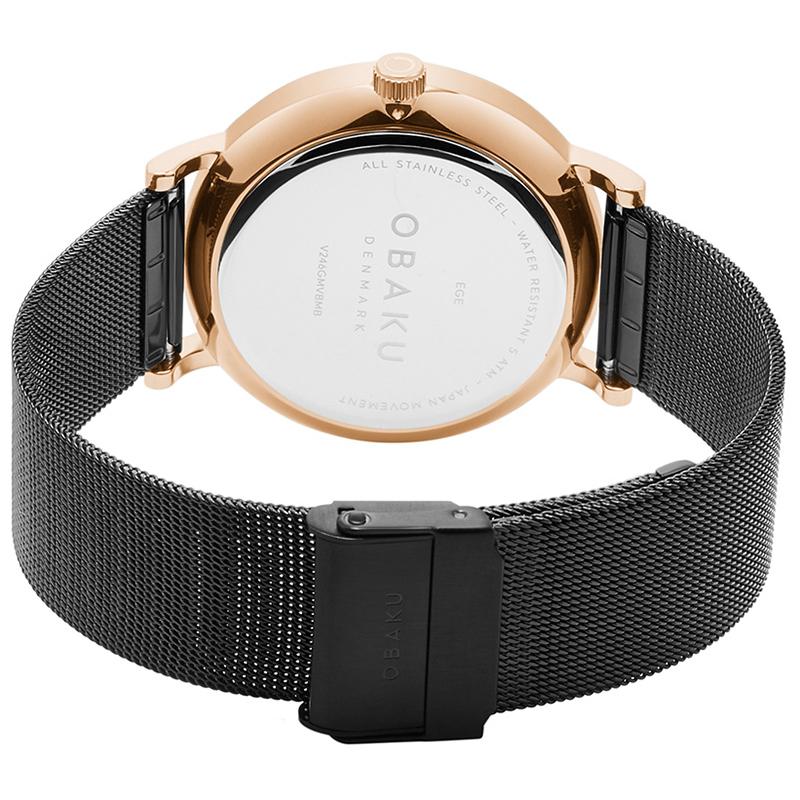 Zegarek męski Obaku Denmark slim V246GMVBMB - duże 4