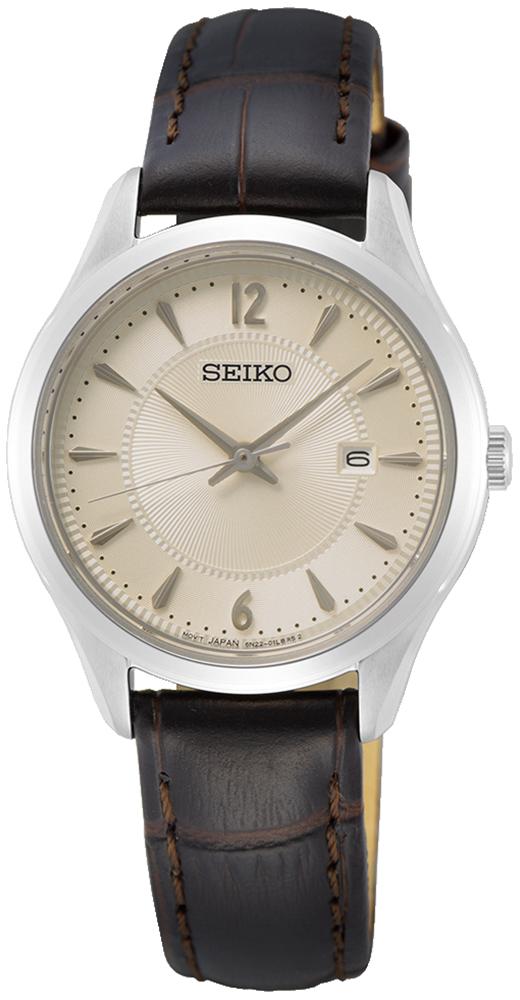 Zegarek damski Seiko classic SUR427P1 - duże 1