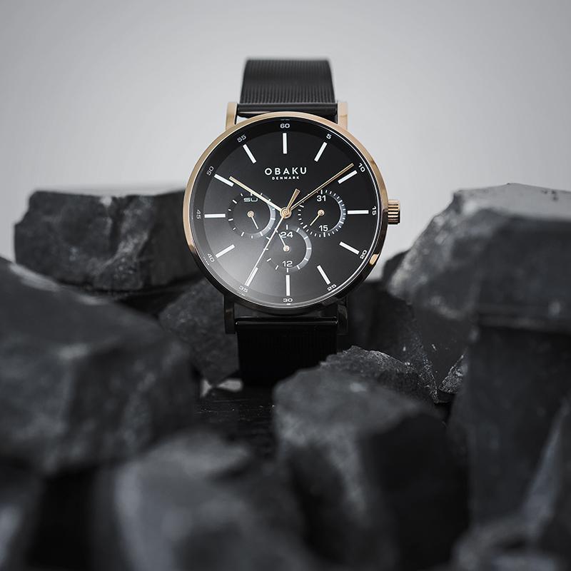 Zegarek męski Obaku Denmark slim V246GMVBMB - duże 5