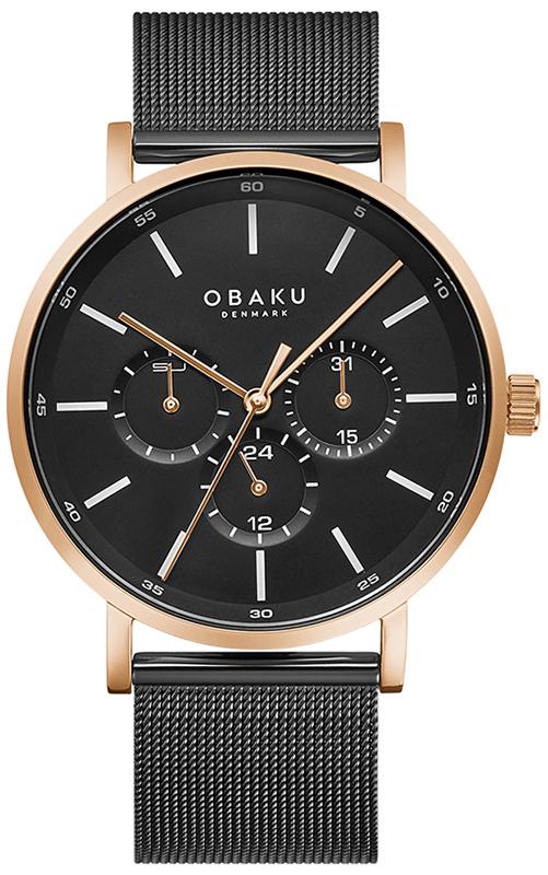 Zegarek męski Obaku Denmark slim V246GMVBMB - duże 1