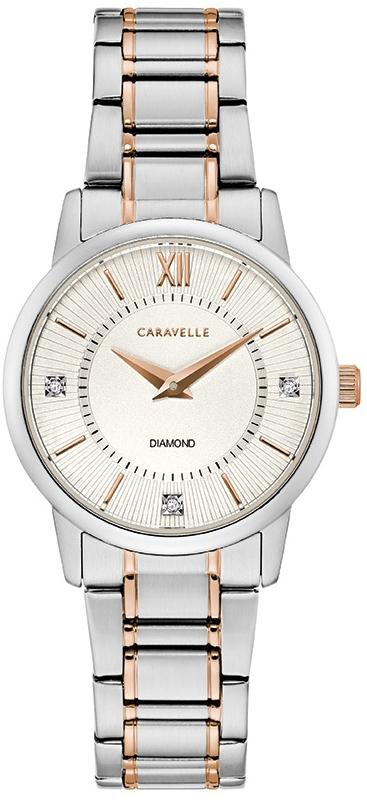 Zegarek damski Caravelle bransoleta 45P110 - duże 1