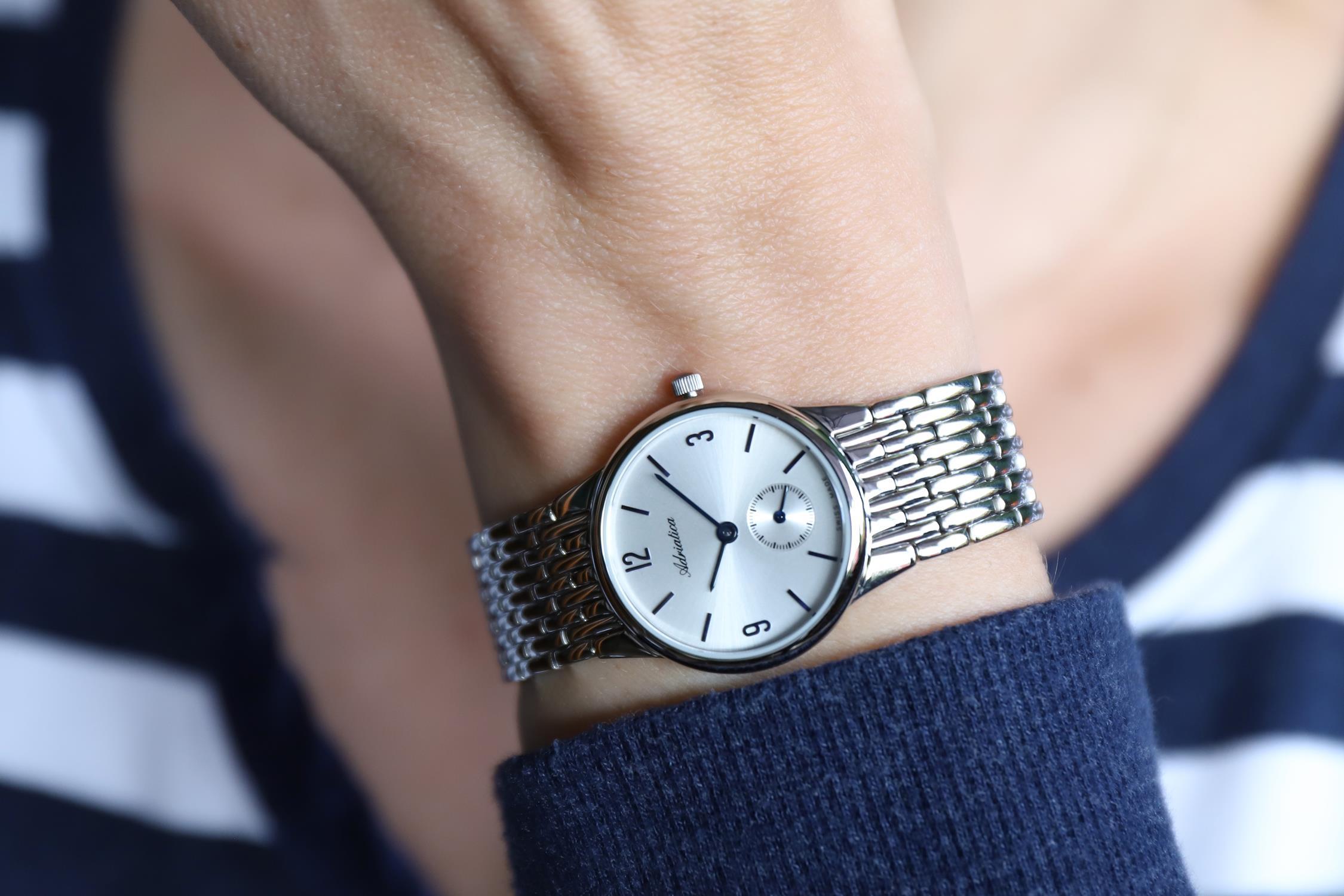 Zegarek damski Adriatica bransoleta A3129.51B3Q - duże 2