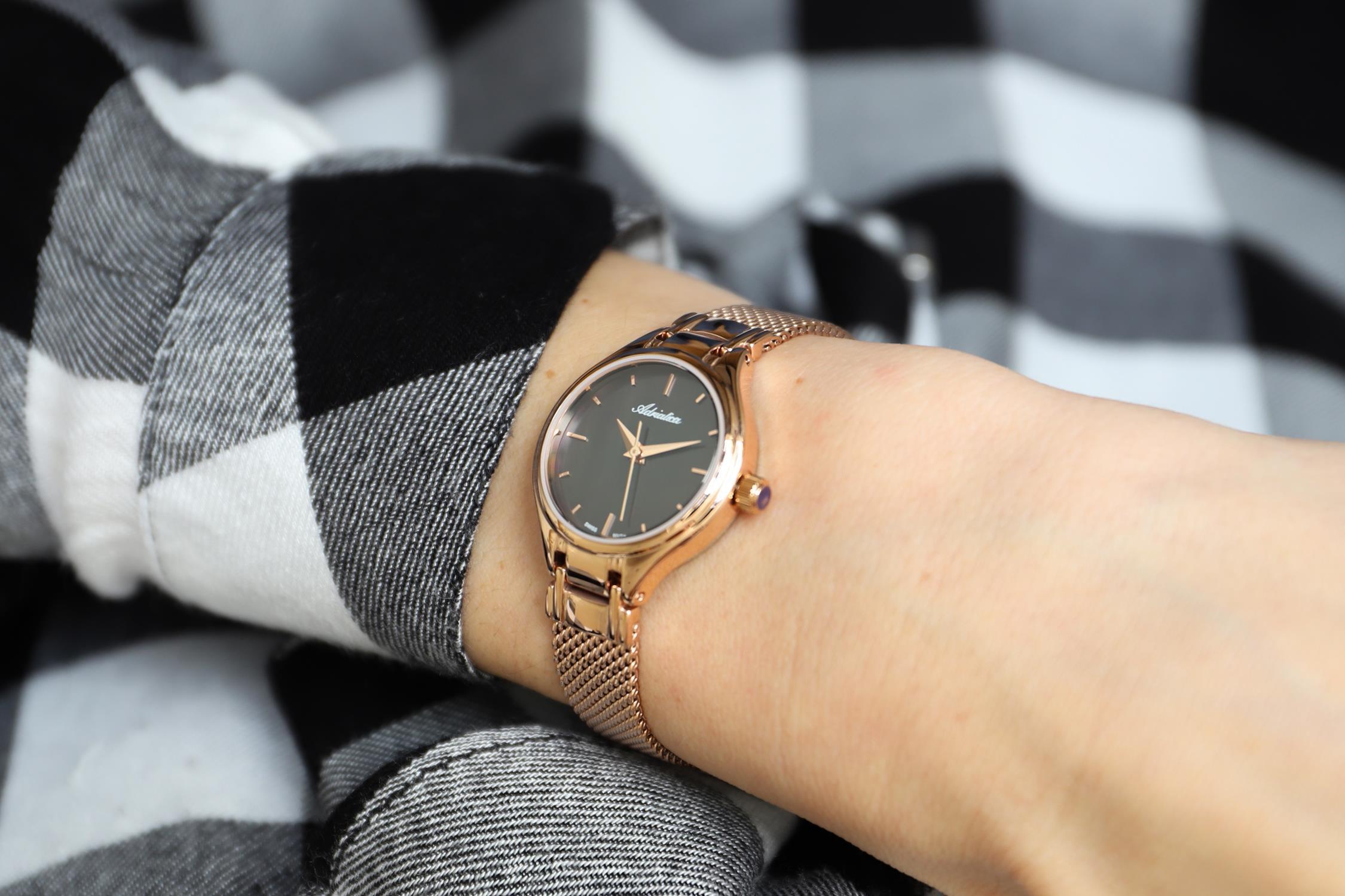 Zegarek damski Adriatica bransoleta A3516.911MQ - duże 2