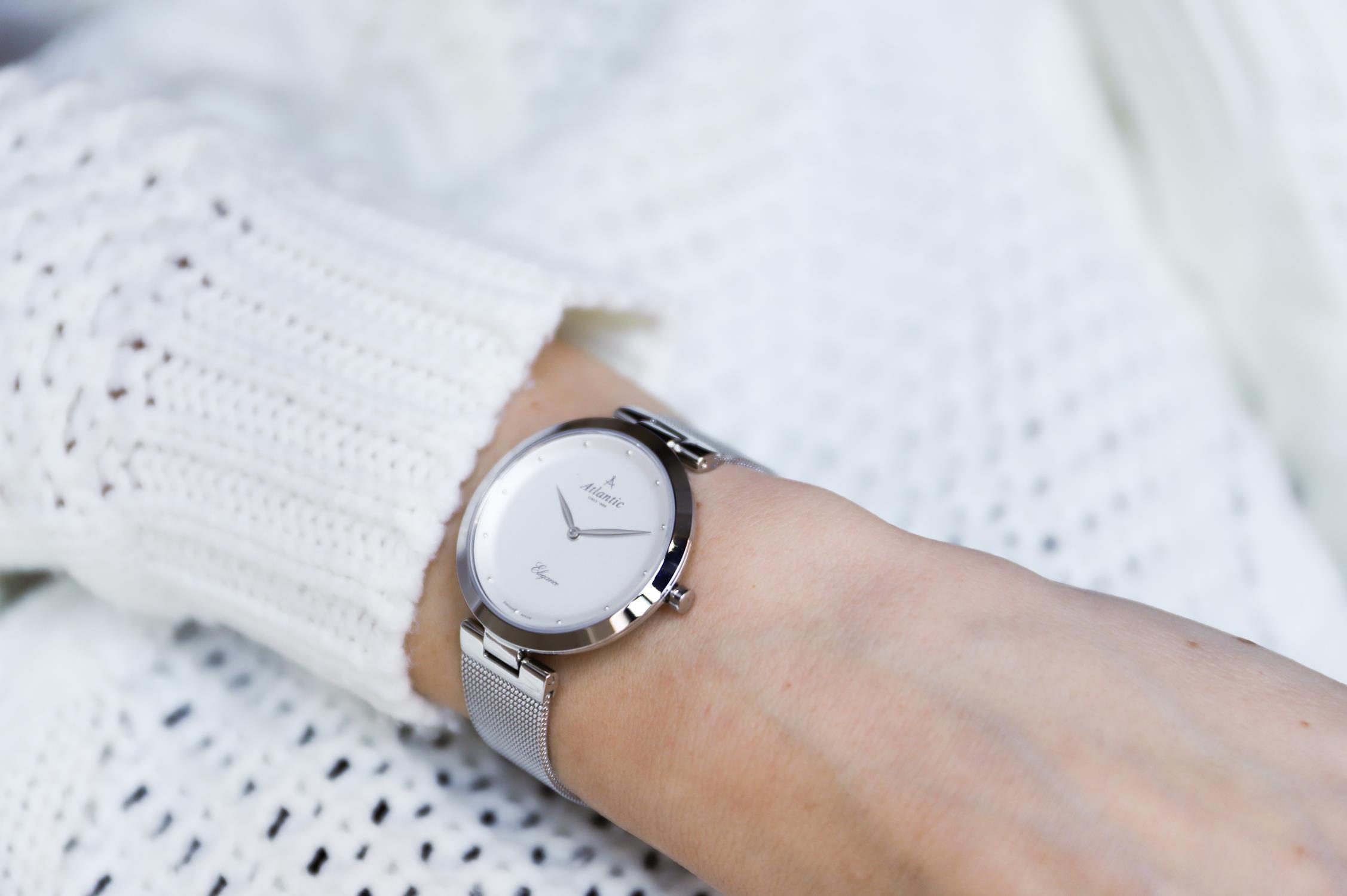 Zegarek damski Atlantic elegance 29036.41.21MB - duże 2