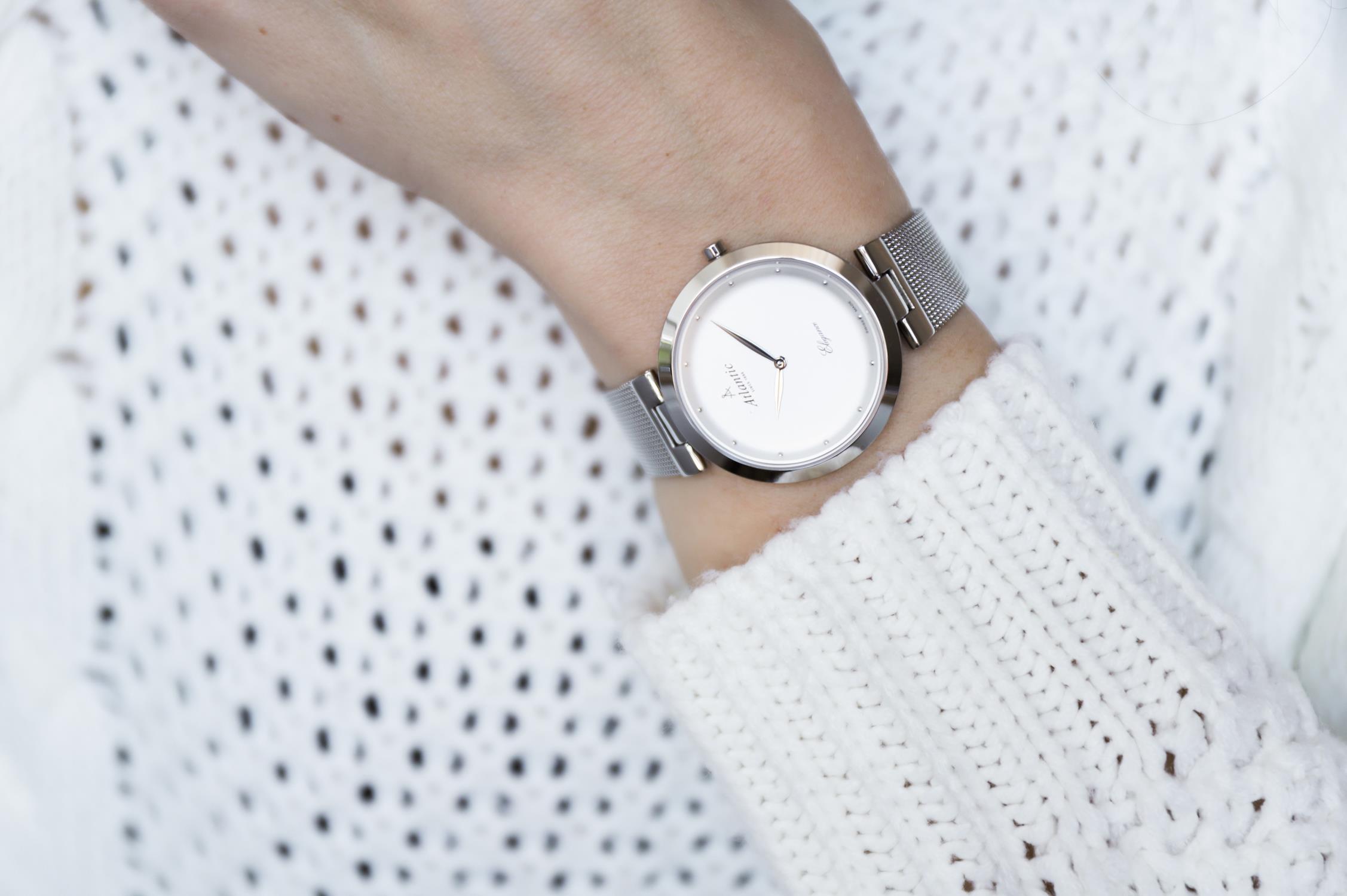 Zegarek damski Atlantic elegance 29036.41.21MB - duże 3