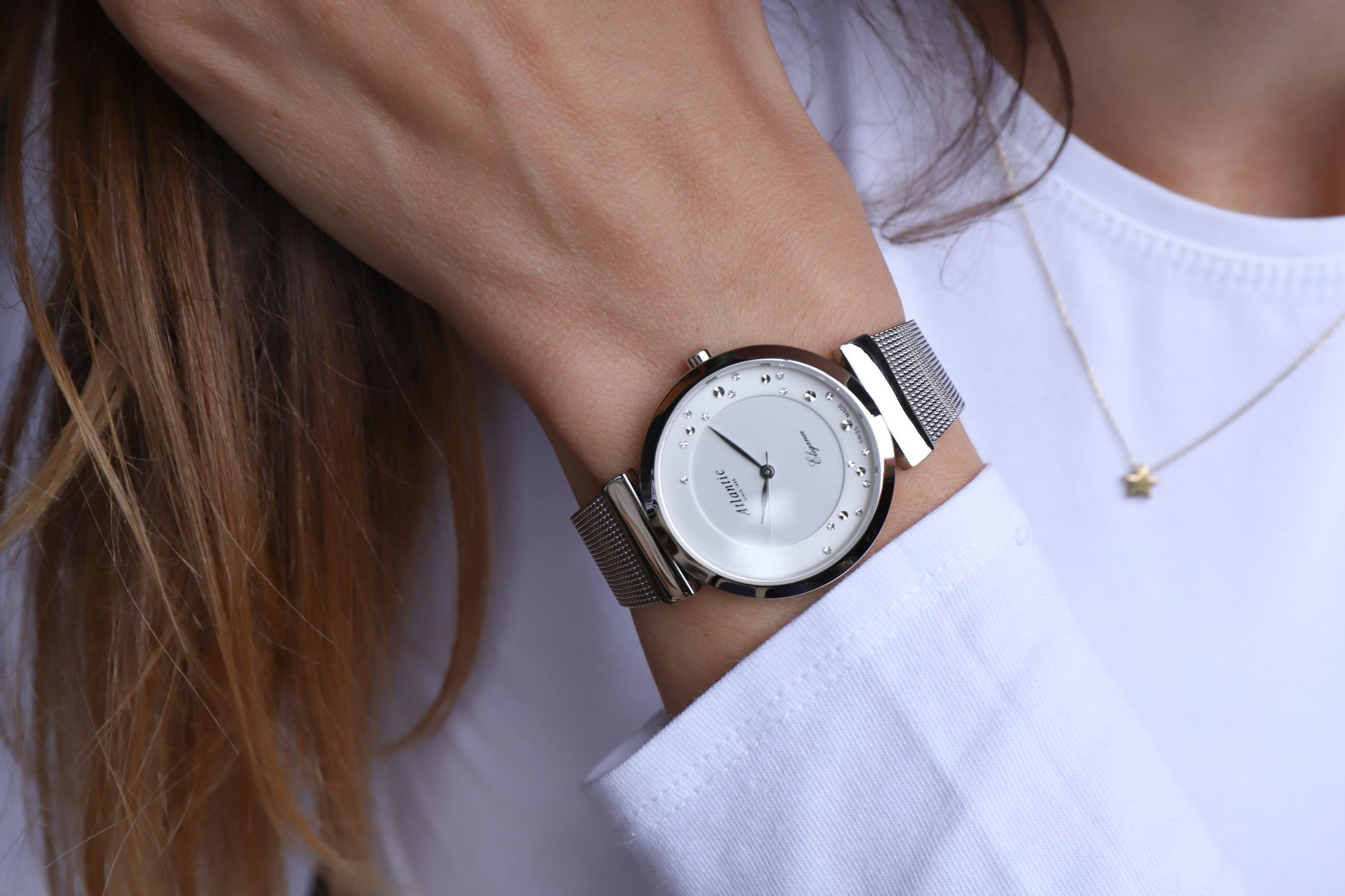 Zegarek damski Atlantic elegance 29039.41.29MB - duże 3