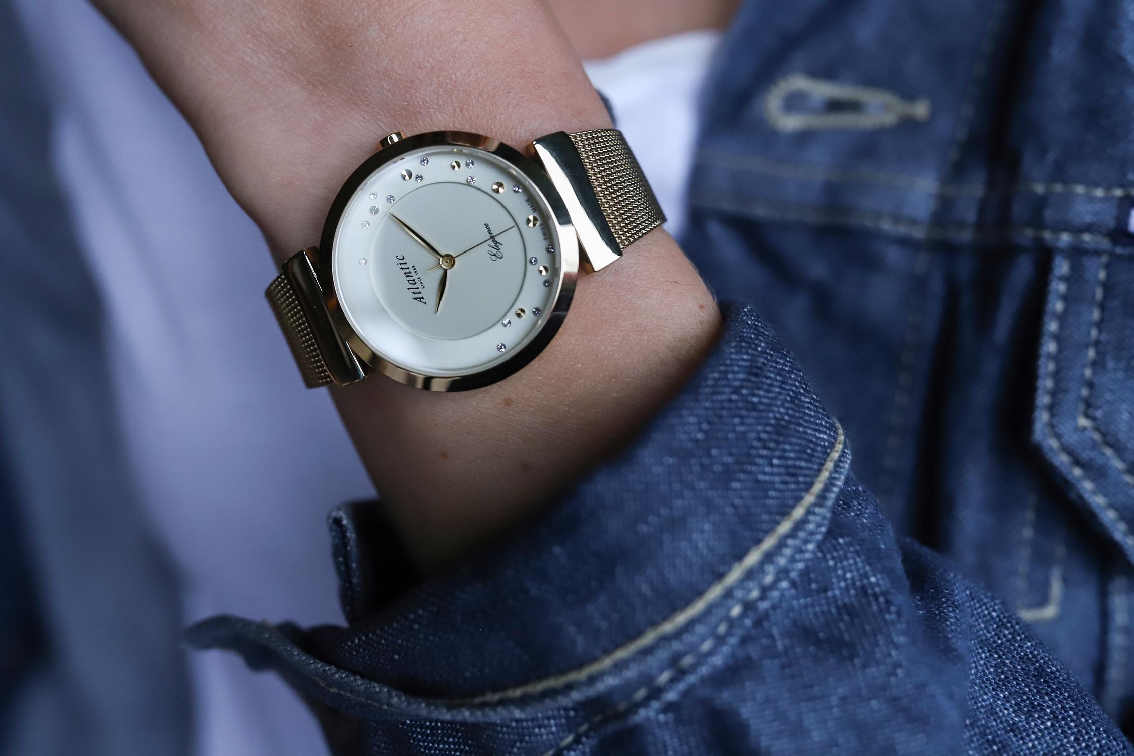 Zegarek damski Atlantic elegance 29039.45.39MB - duże 2