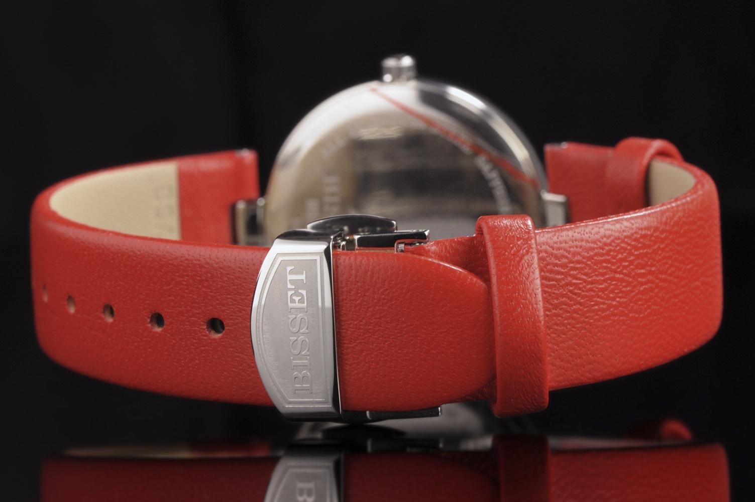 Zegarek damski Bisset klasyczne BSAF21SISX03BX - duże 2