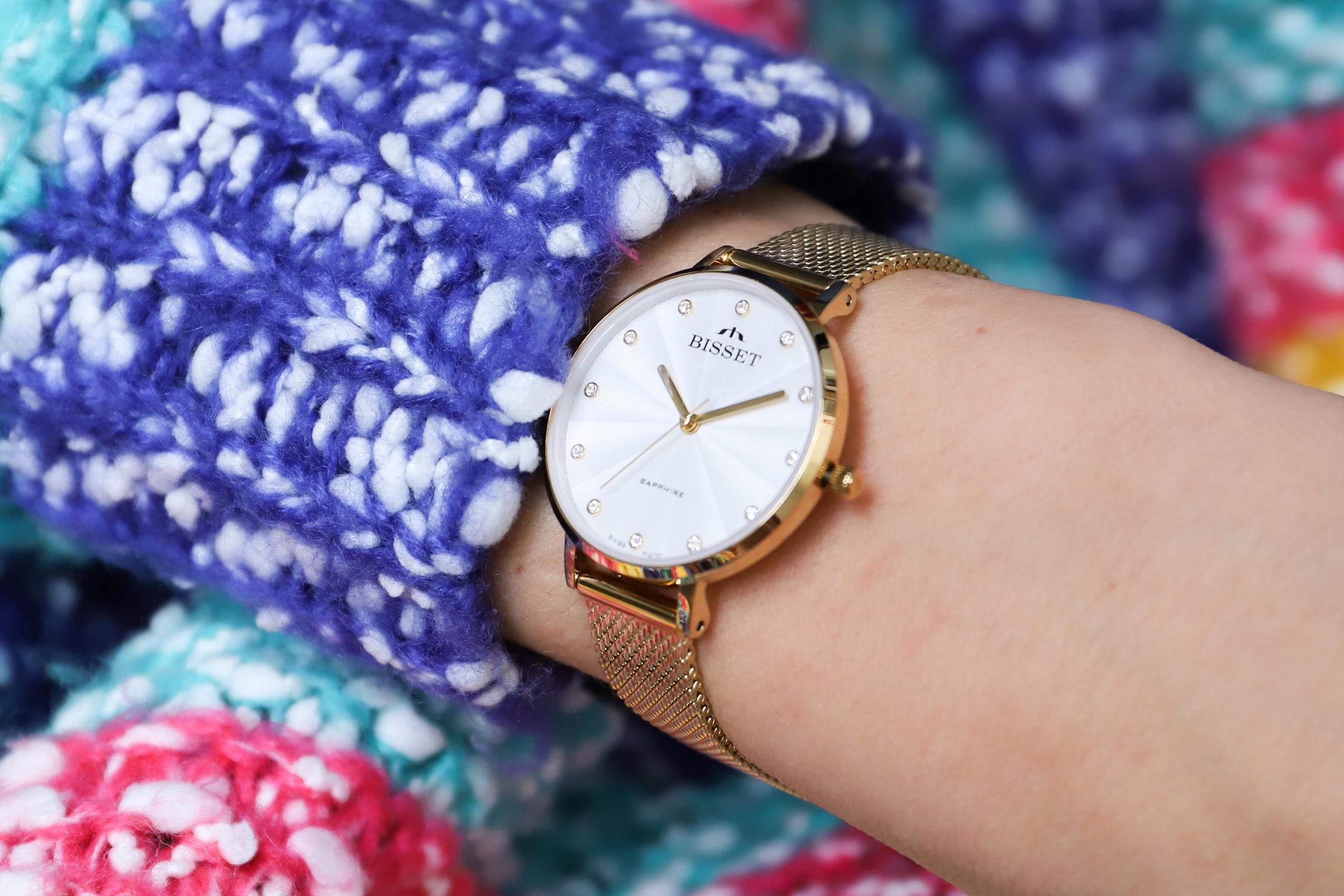 Zegarek damski Bisset klasyczne BSBF30GISX03BX - duże 5